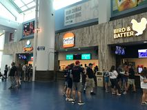 Food Concourse at Tropicana Field, St. Petersburg, Florida.  royalty free stock photos