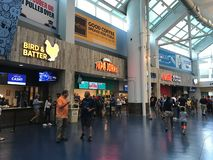 Food Concourse at Tropicana Field, St. Petersburg, Florida.  royalty free stock photo