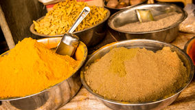 Food condiments. Colorful Condiments for indian food Royalty Free Stock Photo