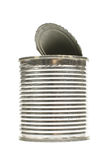 Food consumption idea empty tin can isolated Royalty Free Stock Images