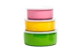 Food Container or Plastic food storage containers. Stock Photo