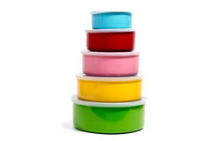 Food Container or Plastic food storage containers. Stock Images
