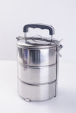 Food Container or Tiffin on a background. Royalty Free Stock Images