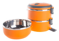 Food Container Tiffin, Food Container on background. Stock Images