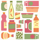 Food containers composition Stock Photography