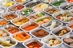 Food in the containers stock photography