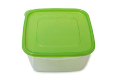 Food containers on white Royalty Free Stock Photography