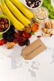 Food containing potassium Royalty Free Stock Image
