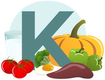 Food containing vitamin K. The food containing vitamin K Stock Images