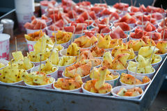 Street food fruits from India to beat the hot summer heat Stock Images