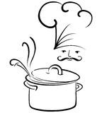 Food and cook. A illustration of food and cook Royalty Free Stock Photo
