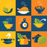 Food and cook emblems Royalty Free Stock Photography