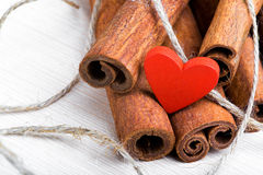 Food cooked with love. Valentine's Day Royalty Free Stock Photo