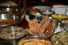 The food cooked at restaurant. Royalty Free Stock Images
