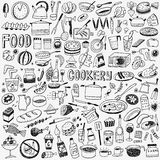 Food cookery doodles Stock Image
