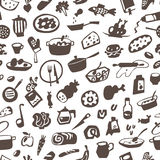 Food , cookery - seamless vector background Stock Photo