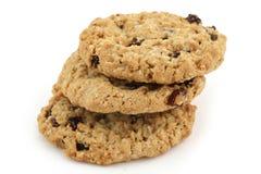 Food cookies. Food - three baked cookies Royalty Free Stock Photo