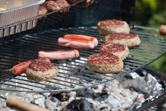 Food cooking on a Barbecue Stock Photo