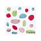 Food and cooking elements Stock Image