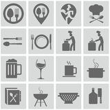 Food and cooking icon set Royalty Free Stock Image