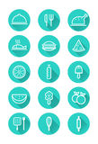 Food and cooking icons set. Royalty Free Stock Image