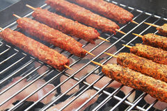 Food cooking outdoors. Stock Images