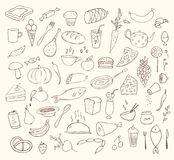 Food and cooking  set. Food and cooking big  set Stock Photography
