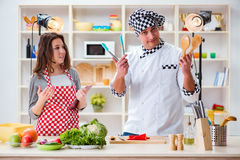 The food cooking tv show in the studio Stock Photography