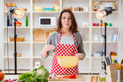 The food cooking tv show in the studio Royalty Free Stock Images