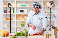 The food cooking tv show in the studio Stock Photo