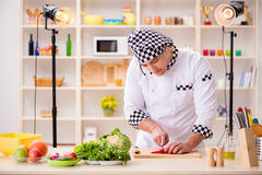 The food cooking tv show in the studio Stock Images