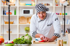 The food cooking tv show in the studio Stock Image