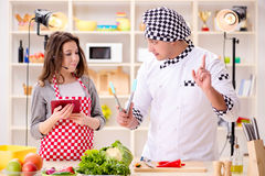 The food cooking tv show in the studio Royalty Free Stock Photos