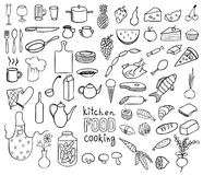 Food and cooking vector collection Royalty Free Stock Images