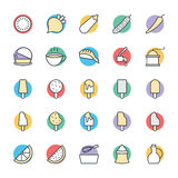 Food Cool Vector Icons 6 Stock Image