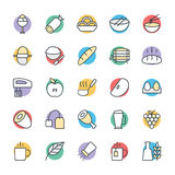 Food Cool Vector Icons 7 Stock Images