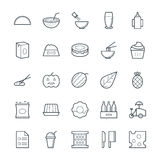 Food Cool Vector Icons 12 Royalty Free Stock Photos
