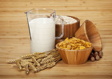 Food - Corn and oat flakes Stock Photo