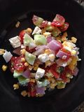 Food. Corn salad with feta cseese Stock Photography