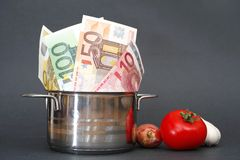 Food costs Stock Photos