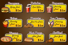 Food Coupon. Easy to edit vector illustration of coupon for fast food vector illustration