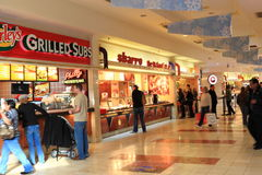 Food Court. In shopping mall stock photo