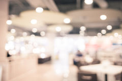 Food court blurred background with bokeh,defocused lights.  royalty free stock photos