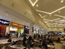 Food Court at Deira City Centre in Dubai, UAE Royalty Free Stock Photo