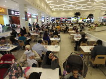 Food Court at Deira City Centre in Dubai, UAE Royalty Free Stock Photos