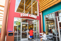 Food court entrance Royalty Free Stock Photography