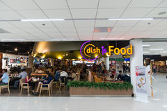 Food court inside the departures area of Don Mueang Internationa Royalty Free Stock Image