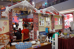 Food court. The food court in a mall in the city of Solo, Central Java, Indonesia stock photography