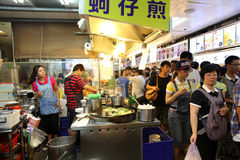 Food Court at the Shilin Night Market in Taipei, Taiwan. Royalty Free Stock Images