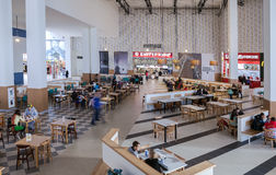 Food court at a shopping center Ambar Stock Image